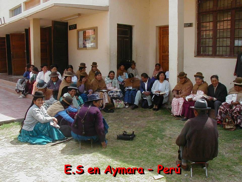 E.S en Aymara – Perú