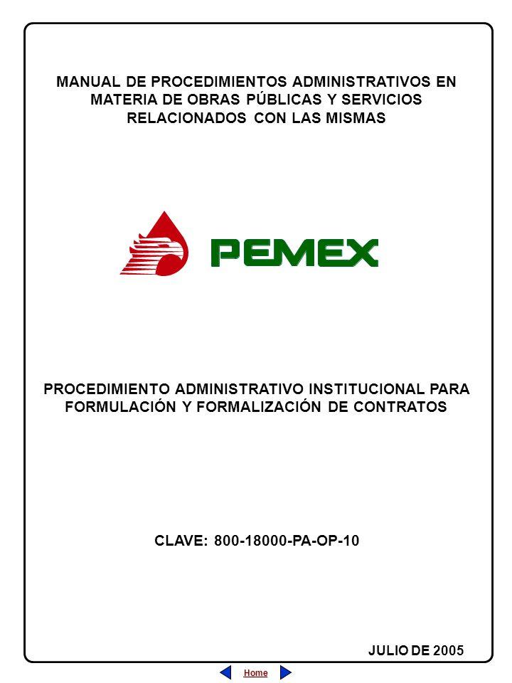 Home PROCEDIMIENTO ADMINISTRATIVO INSTITUCIONAL PARA FORMULACIÓN Y FORMALIZACIÓN DE CONTRATOS MANUAL DE PROCEDIMIENTOS ADMINISTRATIVOS EN MATERIA DE O