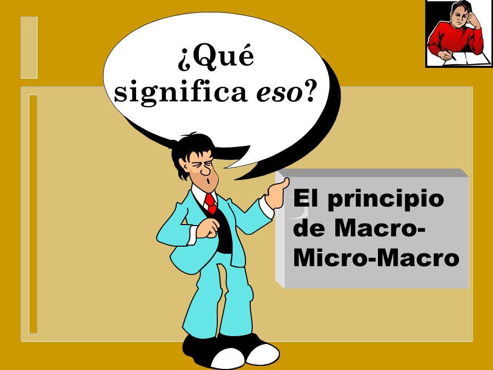 El principio de la enseñanza/aprendizaje El principio de Macro- Micro-Macro