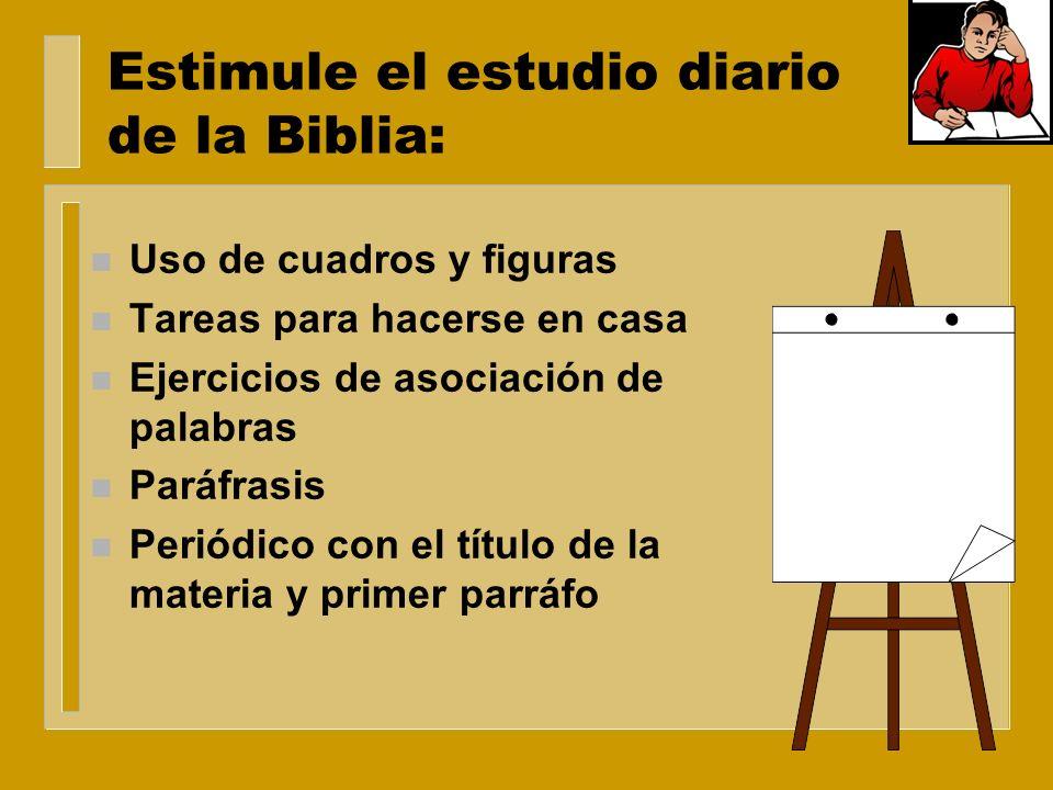 Enseñe a los miembros de la clase cómo estudiar Apréndase la lección de la escuela sabática, no por medio de una ojeada dada al texto de la lección el
