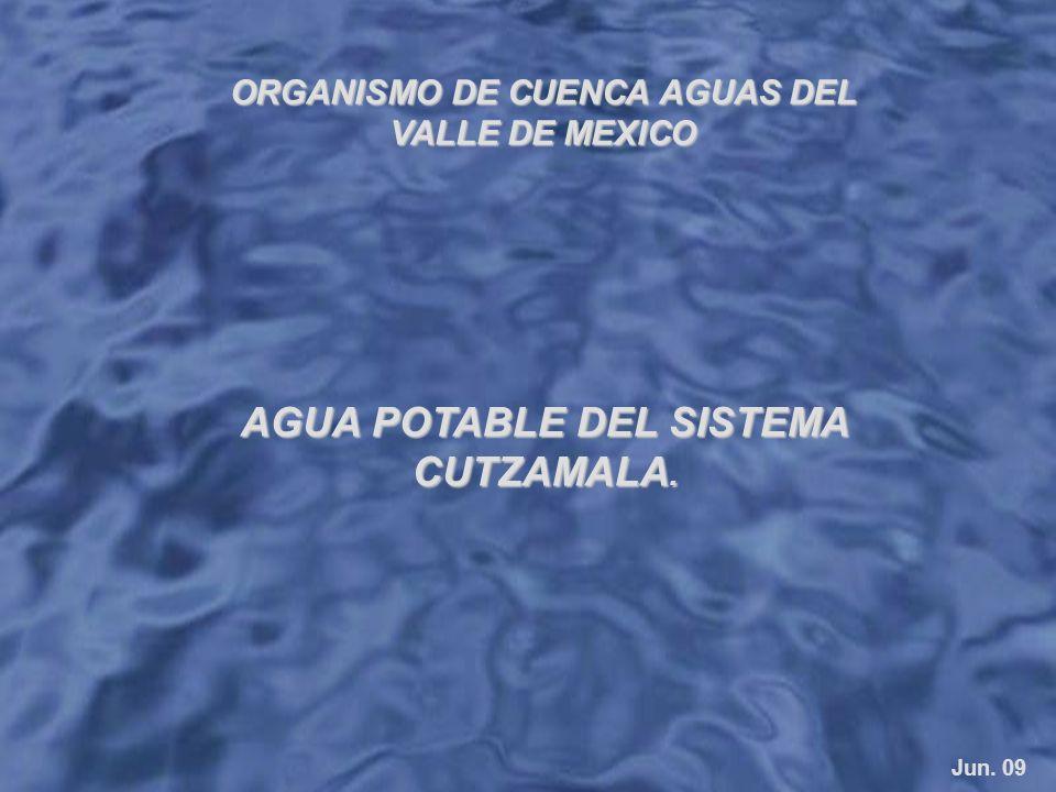 ORGANISMO DE CUENCA AGUASDEL VALLE DE MEXICO ORGANISMO DE CUENCA AGUAS DEL VALLE DE MEXICO Jun. 09 AGUA POTABLE DEL SISTEMA CUTZAMALA.