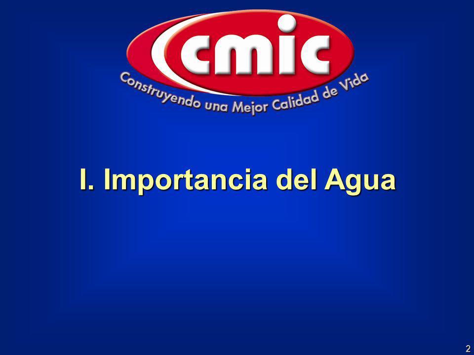 2 I. Importancia del Agua