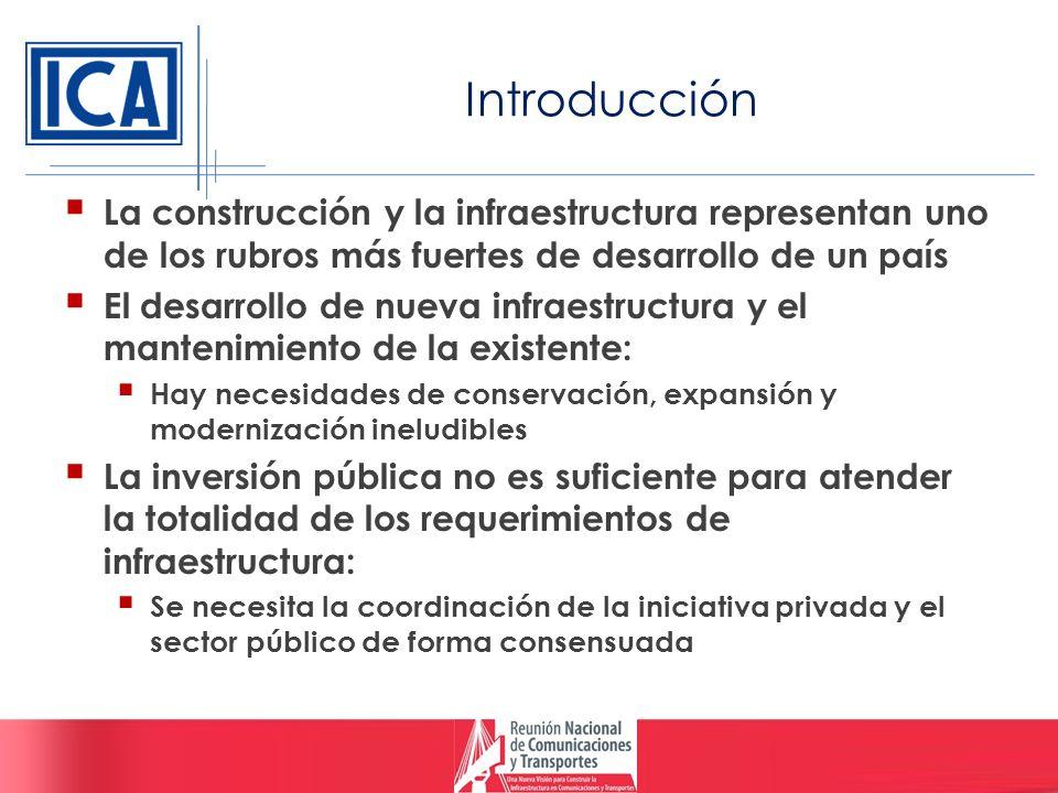 Introducción La construcción y la infraestructura representan uno de los rubros más fuertes de desarrollo de un país El desarrollo de nueva infraestru