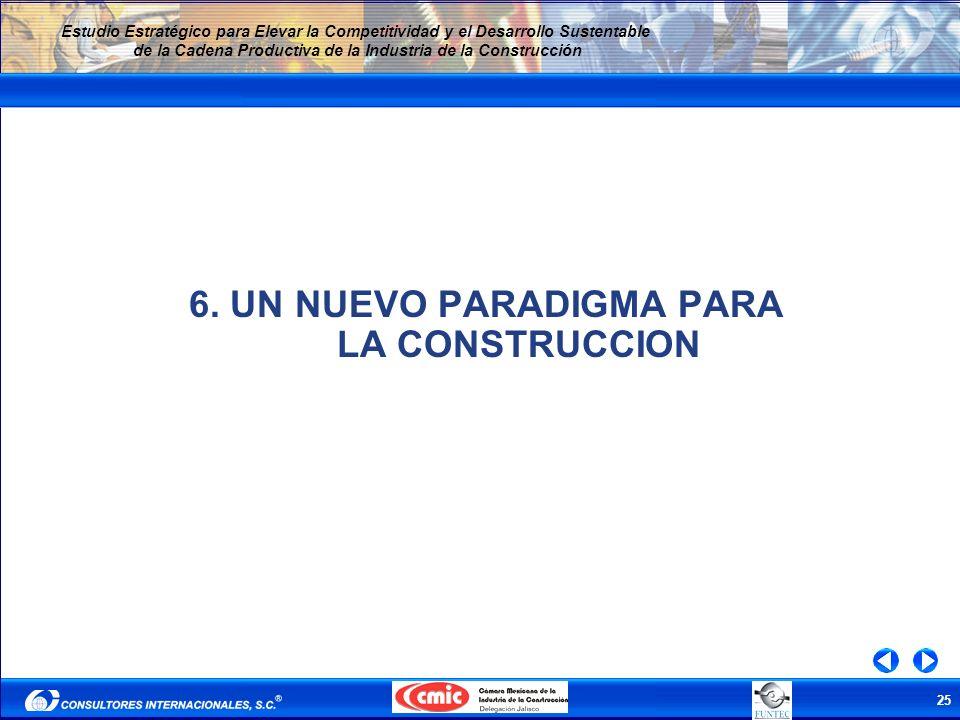 25 Estudio Estratégico para Elevar la Competitividad y el Desarrollo Sustentable de la Cadena Productiva de la Industria de la Construcción 6. UN NUEV