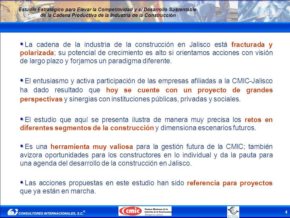 4 Estudio Estratégico para Elevar la Competitividad y el Desarrollo Sustentable de la Cadena Productiva de la Industria de la Construcción La cadena d