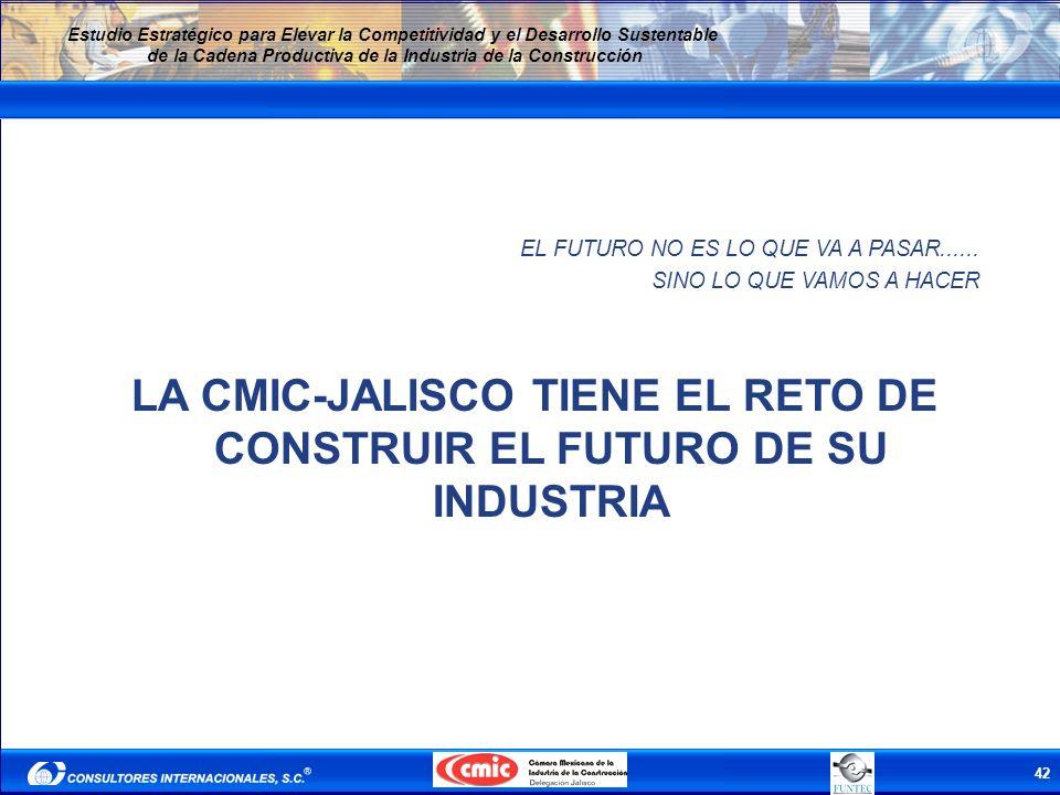 42 Estudio Estratégico para Elevar la Competitividad y el Desarrollo Sustentable de la Cadena Productiva de la Industria de la Construcción EL FUTURO
