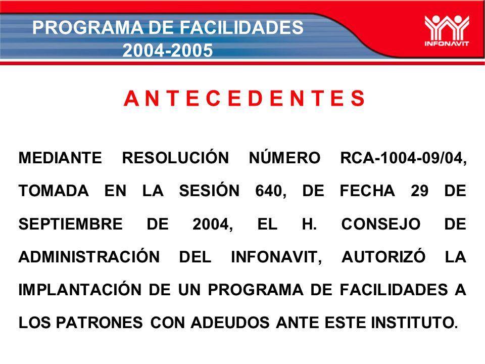MEDIANTE RESOLUCIÓN NÚMERO RCA-1004-09/04, TOMADA EN LA SESIÓN 640, DE FECHA 29 DE SEPTIEMBRE DE 2004, EL H.
