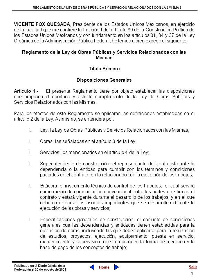 72 REGLAMENTO DE LA LEY DE OBRAS PÚBLICAS Y SERVICIOS RELACIONADOS CON LAS MISMAS Home Salir Publicado en el Diario Oficial de la Federaci ó n el 20 de agosto de 2001 Sección VI Terminación Anticipada del Contrato Artículo 120.- Sólo en los casos expresamente señalados en el artículo 60 de la Ley, procederá la terminación anticipada de los contratos, por lo que no podrá celebrarse ningún acuerdo entre las partes para tal efecto.