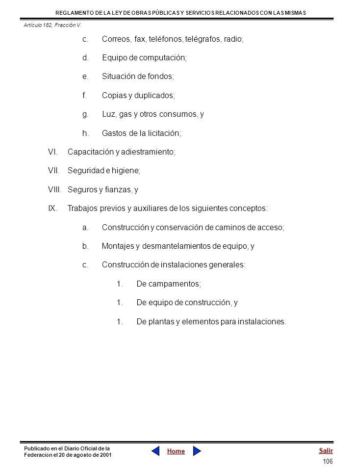 106 REGLAMENTO DE LA LEY DE OBRAS PÚBLICAS Y SERVICIOS RELACIONADOS CON LAS MISMAS Home Salir Publicado en el Diario Oficial de la Federaci ó n el 20