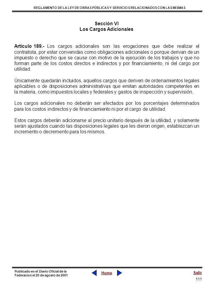 111 REGLAMENTO DE LA LEY DE OBRAS PÚBLICAS Y SERVICIOS RELACIONADOS CON LAS MISMAS Home Salir Publicado en el Diario Oficial de la Federaci ó n el 20
