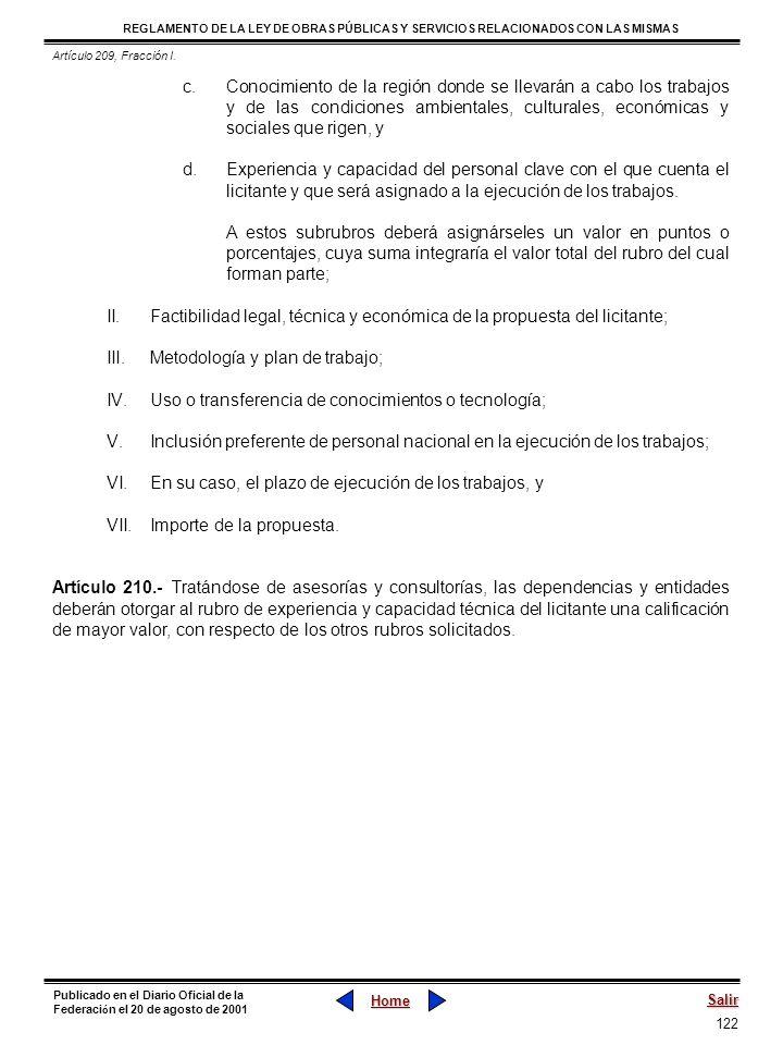 122 REGLAMENTO DE LA LEY DE OBRAS PÚBLICAS Y SERVICIOS RELACIONADOS CON LAS MISMAS Home Salir Publicado en el Diario Oficial de la Federaci ó n el 20