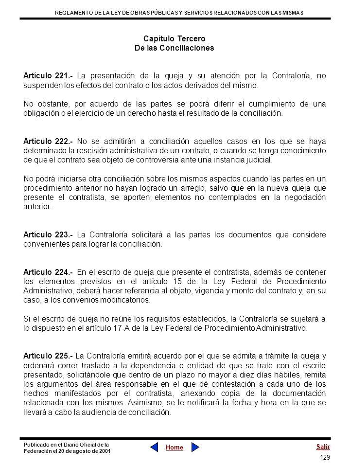 129 REGLAMENTO DE LA LEY DE OBRAS PÚBLICAS Y SERVICIOS RELACIONADOS CON LAS MISMAS Home Salir Publicado en el Diario Oficial de la Federaci ó n el 20