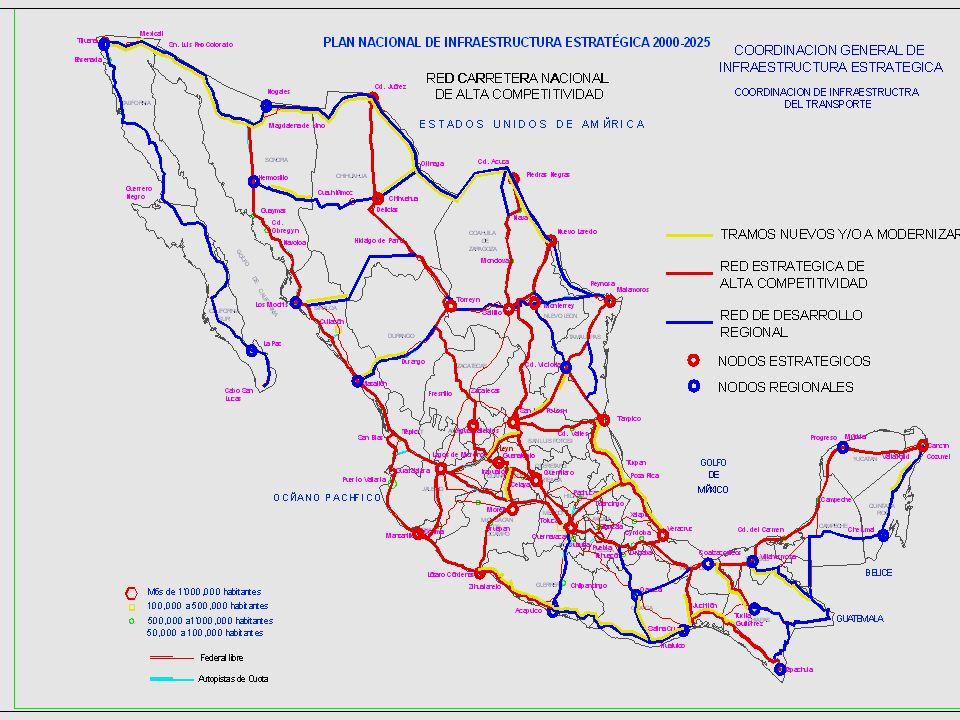 Equipo de Transición del Presidente Electo Vicente Fox Quesada Coordinación de Infraestructura Estratégica 13