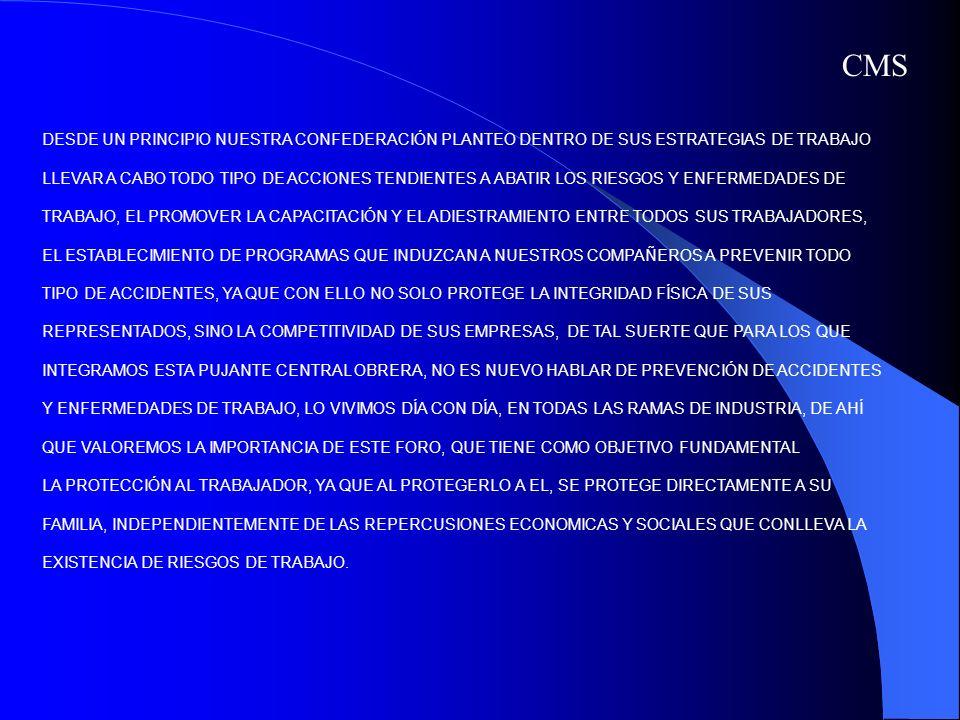 DESDE UN PRINCIPIO NUESTRA CONFEDERACIÓN PLANTEO DENTRO DE SUS ESTRATEGIAS DE TRABAJO LLEVAR A CABO TODO TIPO DE ACCIONES TENDIENTES A ABATIR LOS RIES