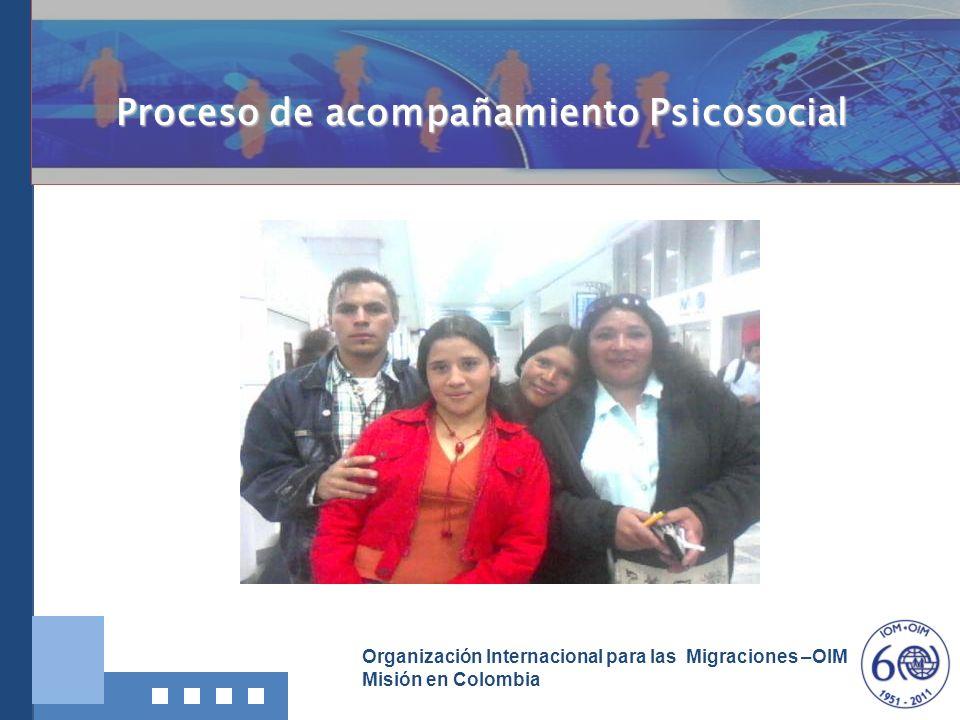 Organización Internacional para las Migraciones –OIM Misión en Colombia Proceso de acompañamiento Psicosocial