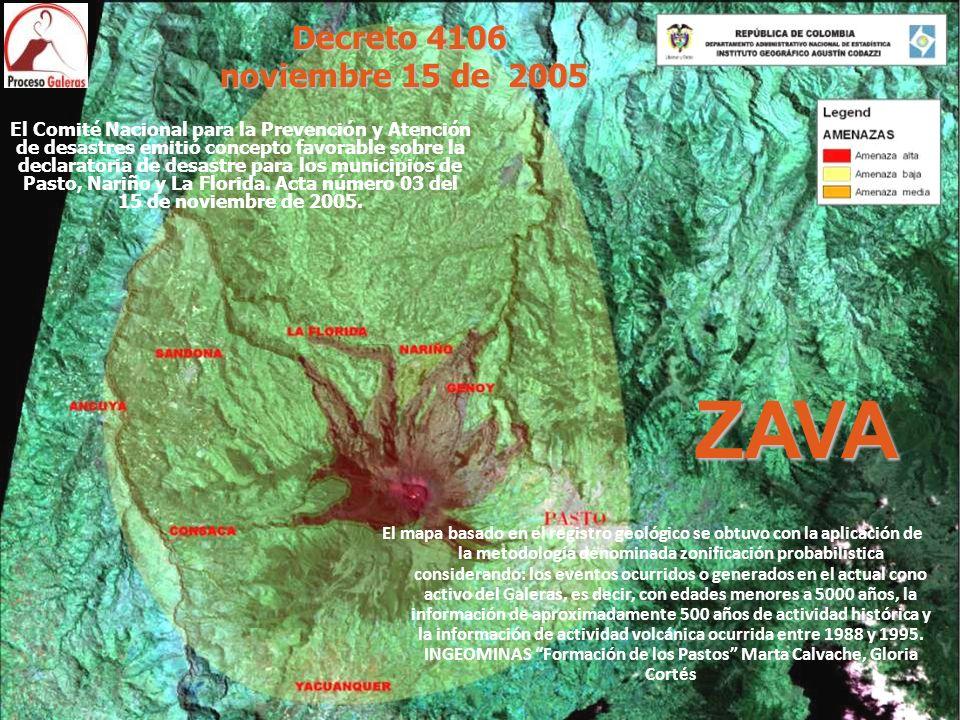 ZAVA El Comité Nacional para la Prevención y Atención de desastres emitió concepto favorable sobre la declaratoria de desastre para los municipios de