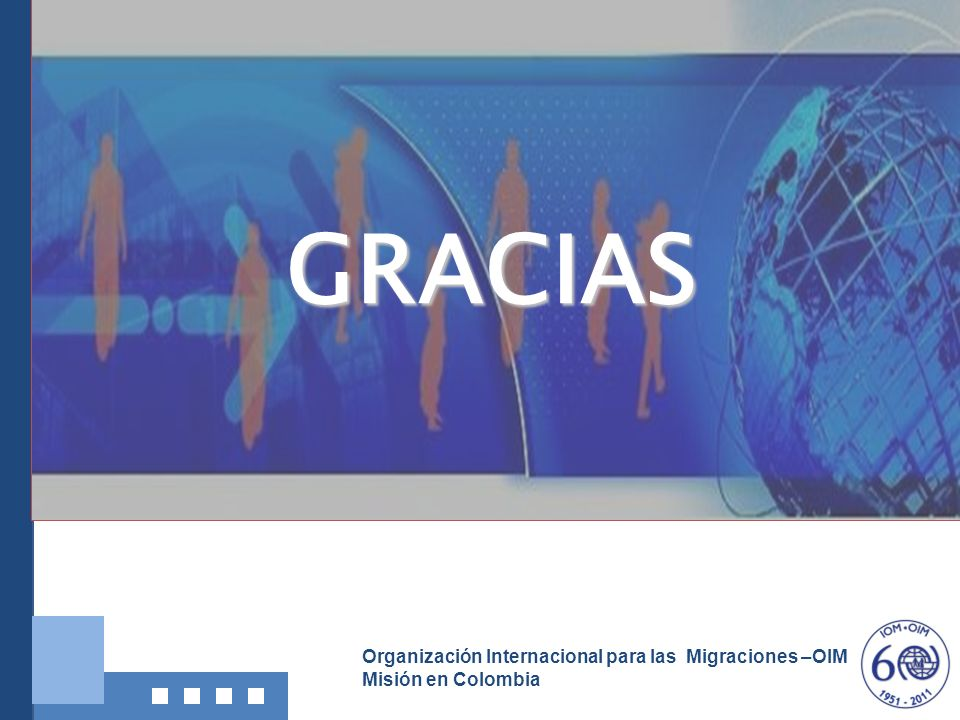 Organización Internacional para las Migraciones –OIM Misión en Colombia GRACIAS
