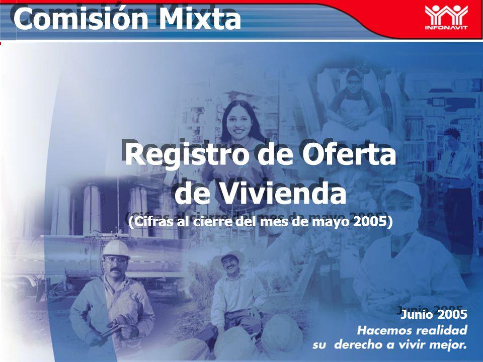 Junio 2005 Comisión Mixta Registro de Oferta de Vivienda (Cifras al cierre del mes de mayo 2005) Registro de Oferta de Vivienda (Cifras al cierre del mes de mayo 2005)