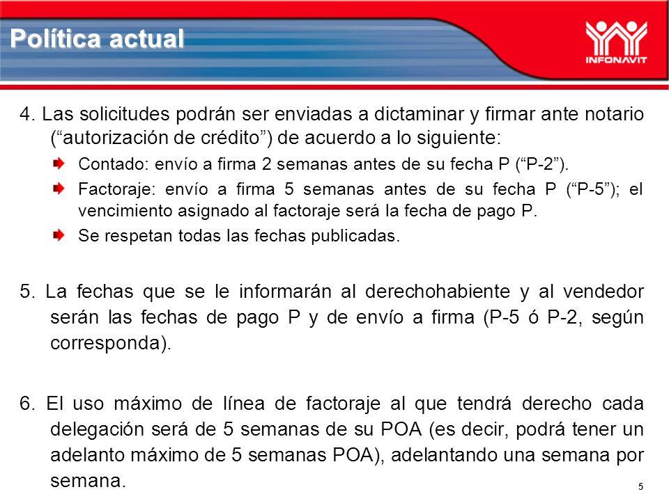 5 4. Las solicitudes podrán ser enviadas a dictaminar y firmar ante notario (autorización de crédito) de acuerdo a lo siguiente: Contado: envío a firm