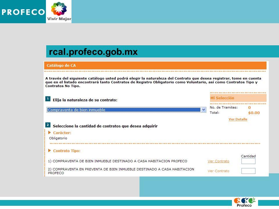 IMPROCEDENCIA DE LA DENUNCIA rcal.profeco.gob.mx