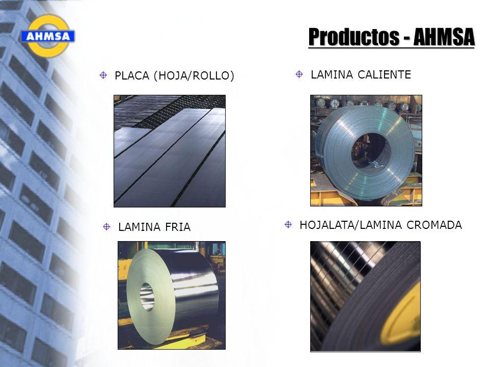 Productos - AHMSA PLACA (HOJA/ROLLO) LAMINA CALIENTE LAMINA FRIA HOJALATA/LAMINA CROMADA
