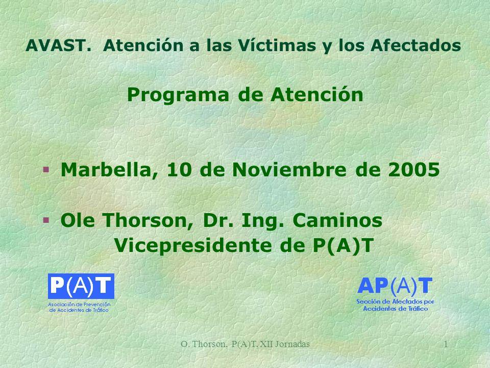 O. Thorson, P(A)T, XII Jornadas1 AVAST.