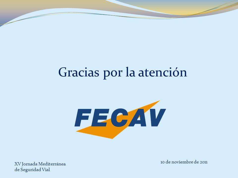 Gracias por la atención 10 de noviembre de 2011 XV Jornada Mediterránea de Seguridad Vial