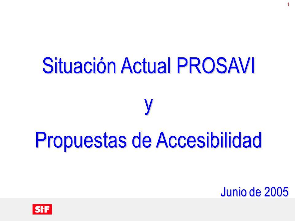 1 Situación Actual PROSAVI y Propuestas de Accesibilidad Junio de 2005