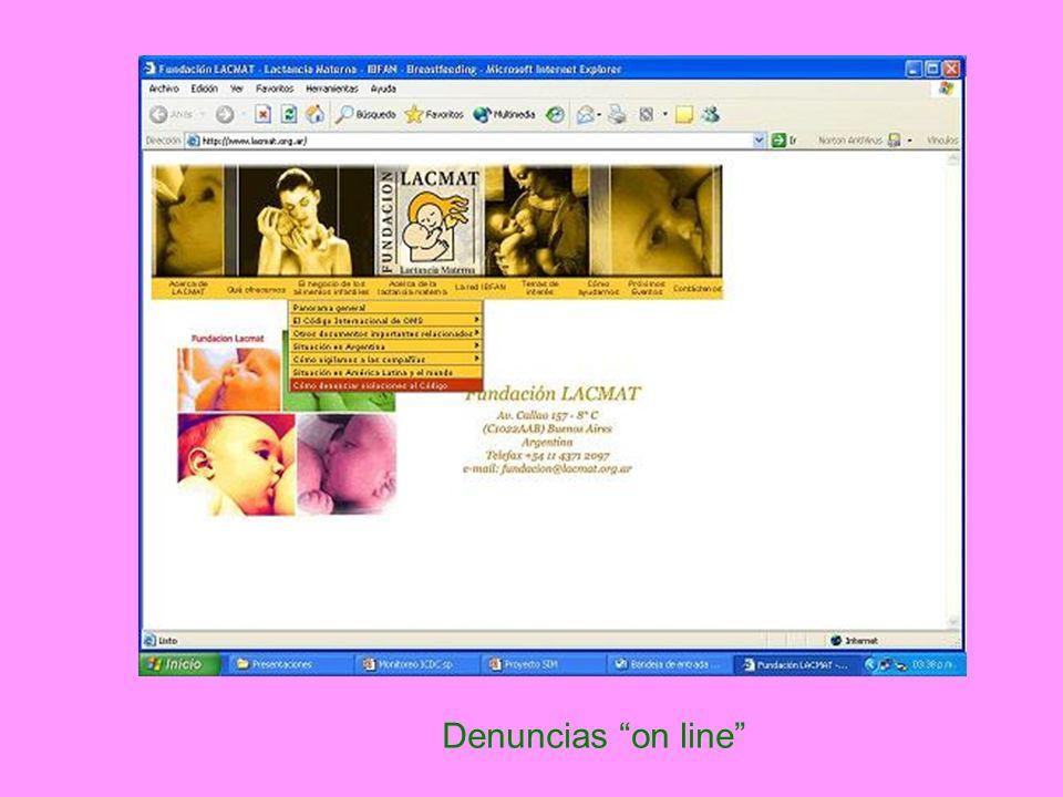 Denuncias on line
