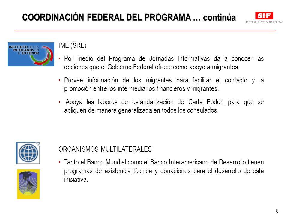 8 IME (SRE) Por medio del Programa de Jornadas Informativas da a conocer las opciones que el Gobierno Federal ofrece como apoyo a migrantes.