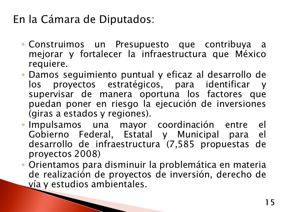 En la Cámara de Diputados: Construimos un Presupuesto que contribuya a mejorar y fortalecer la infraestructura que México requiere.
