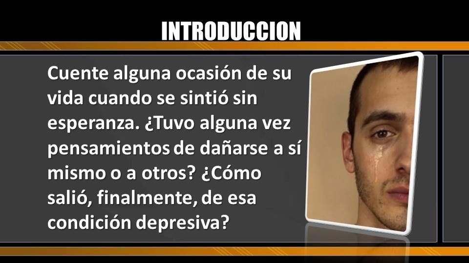 ¿Qué entiendes por depresión? ¿Qué síntomas nos indican que sufrimos de depresión?