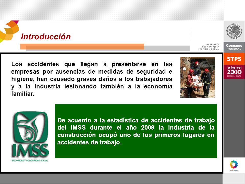 Introducción Los accidentes que llegan a presentarse en las empresas por ausencias de medidas de seguridad e higiene, han causado graves daños a los t