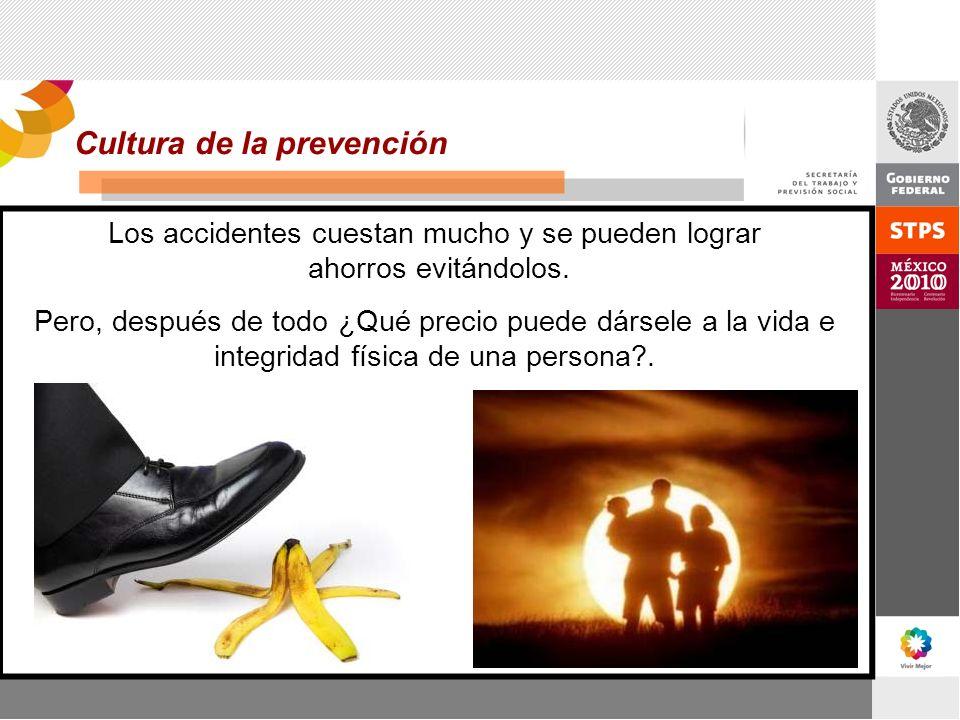 Los accidentes cuestan mucho y se pueden lograr ahorros evitándolos. Pero, después de todo ¿Qué precio puede dársele a la vida e integridad física de