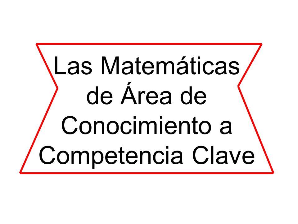 Las Matemáticas de Área de Conocimiento a Competencia Clave