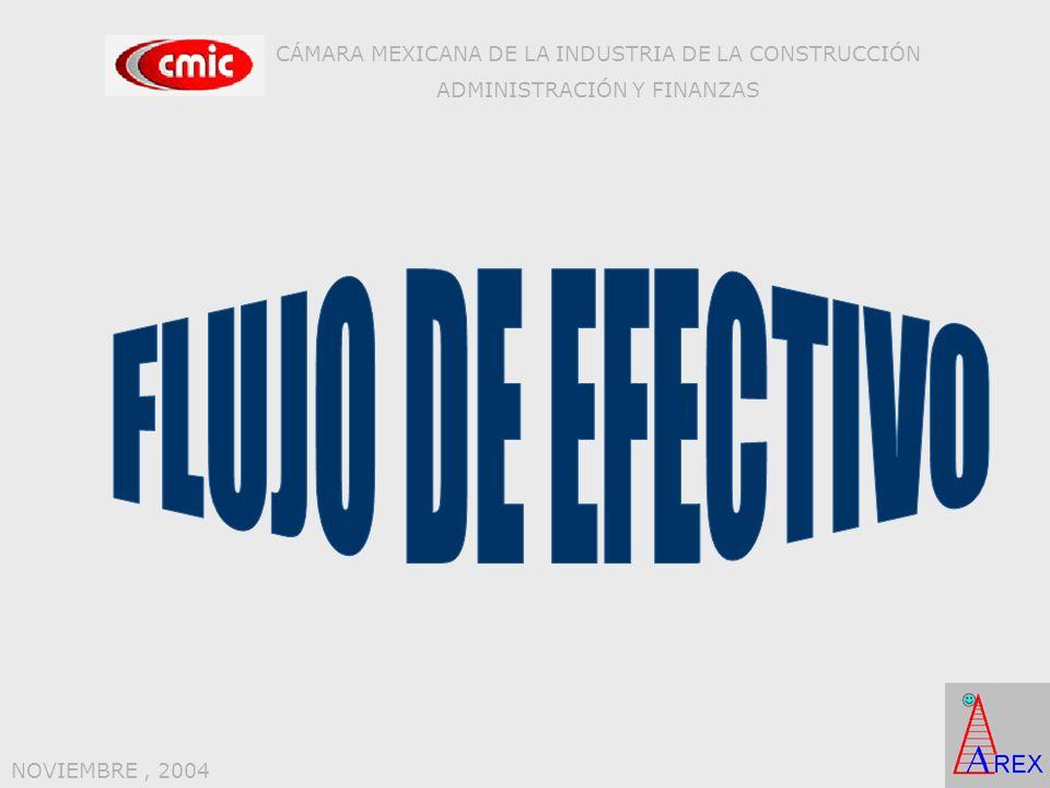 CÁMARA MEXICANA DE LA INDUSTRIA DE LA CONSTRUCCIÓN ADMINISTRACIÓN Y FINANZAS NOVIEMBRE, 2004