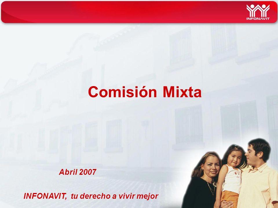 INFONAVIT, tu derecho a vivir mejor Comisión Mixta Abril 2007