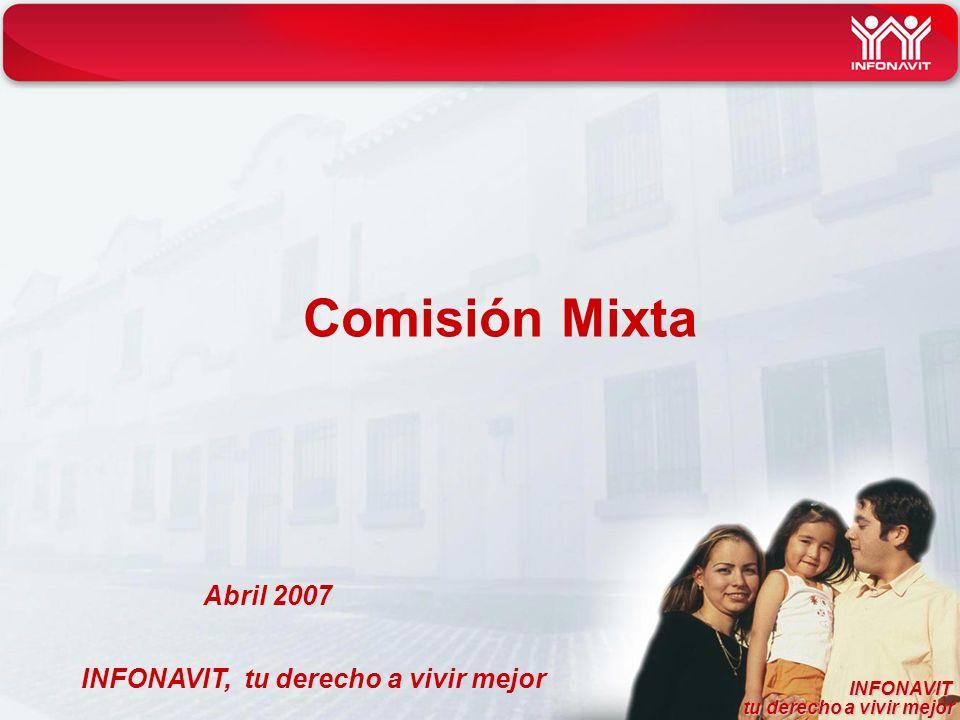 INFONAVIT tu derecho a vivir mejor tu derecho a vivir mejor INFONAVIT, tu derecho a vivir mejor Comisión Mixta Abril 2007