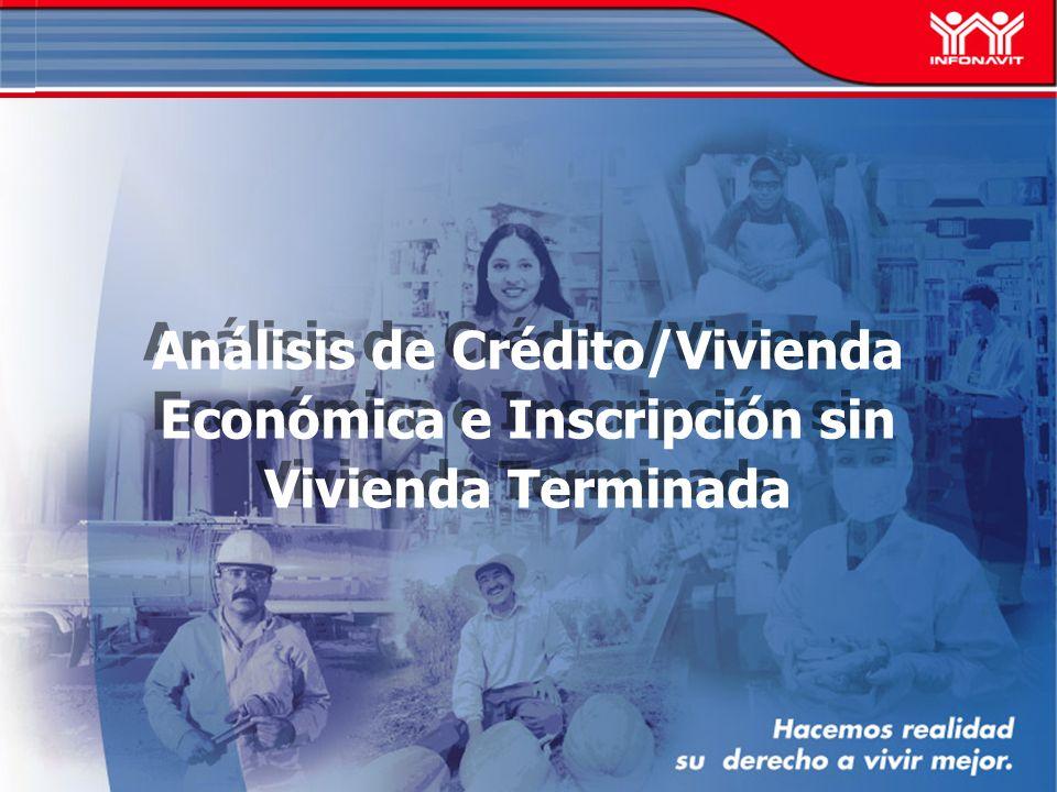 Análisis de Crédito/Vivienda Económica e Inscripción sin Vivienda Terminada