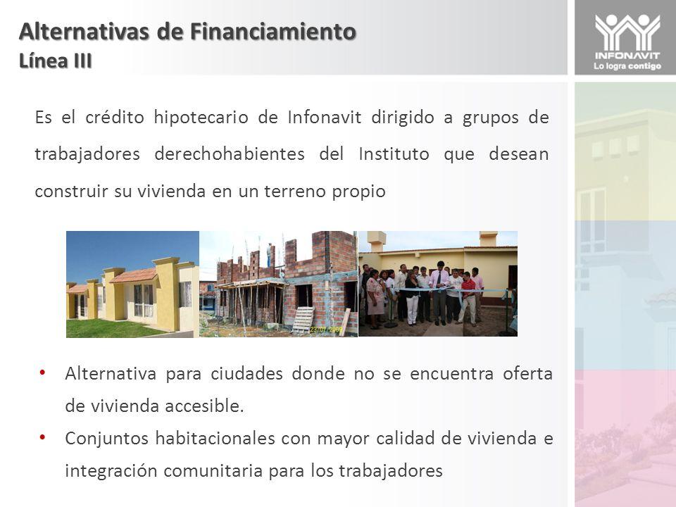 Alternativas de Financiamiento Fondos e Inversionistas La inversión privada a través de la colocación de recursos en los mercados financieros por medio de fondos e instrumentos de deuda ha sido una opción ofrecida recientemente para el desarrollo de vivienda.