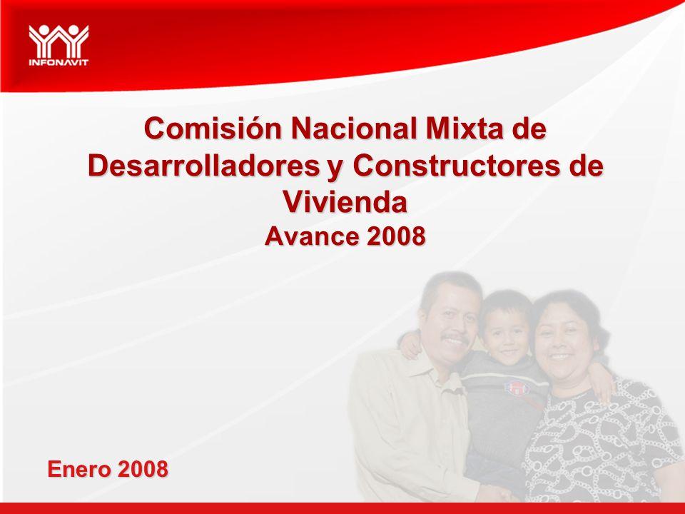 Comisión Nacional Mixta de Desarrolladores y Constructores de Vivienda Avance 2008 Enero 2008