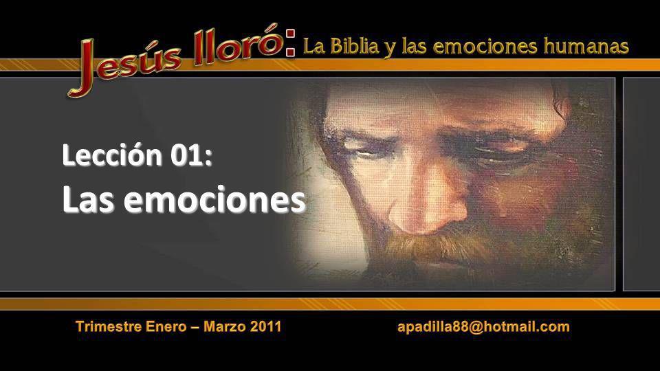II.JESUS Y LAS EMOCIONES Jesús sentía tristeza al mirar el futuro y ver el destino de Jerusalén.