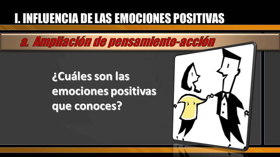 Las emociones positivas pueden reparar el daño que las emociones negativas producen.