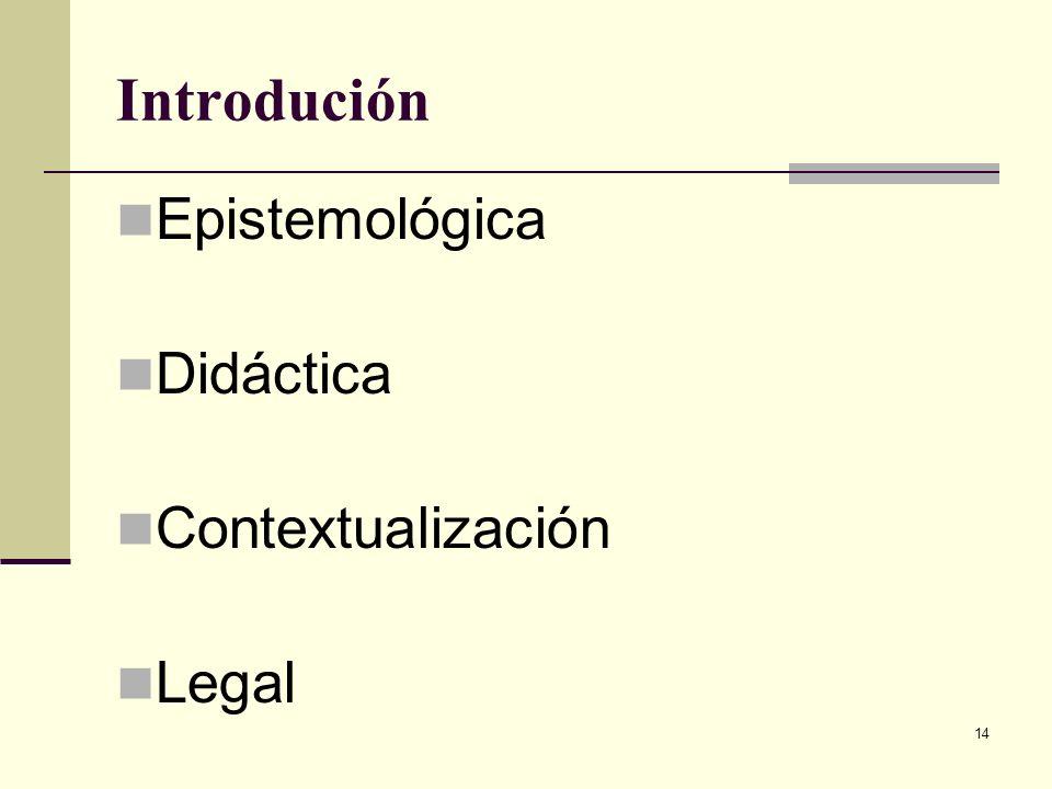 14 Introdución Epistemológica Didáctica Contextualización Legal