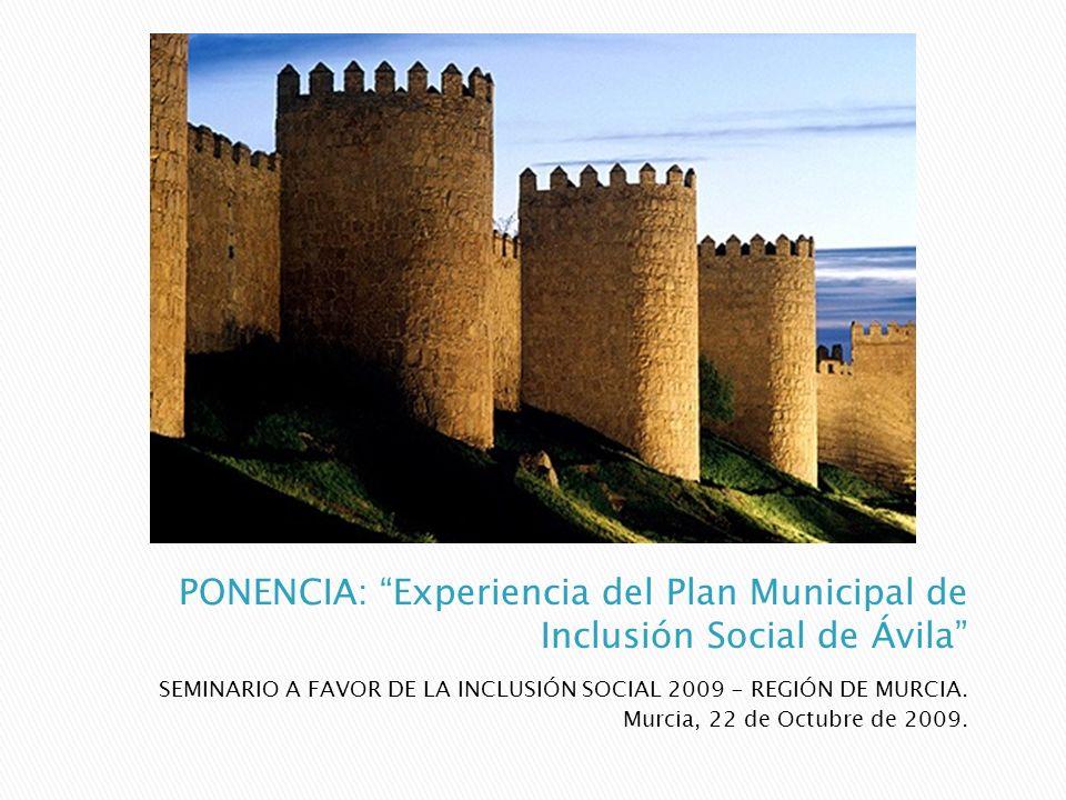 SEMINARIO A FAVOR DE LA INCLUSIÓN SOCIAL 2009 - REGIÓN DE MURCIA. Murcia, 22 de Octubre de 2009.