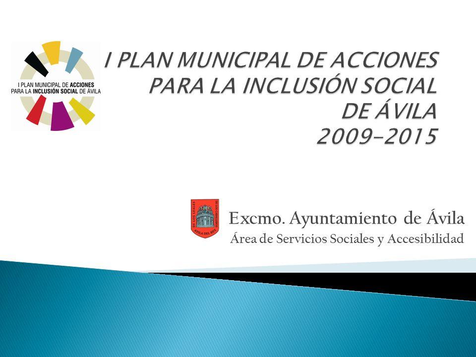 Excmo. Ayuntamiento de Ávila Área de Servicios Sociales y Accesibilidad