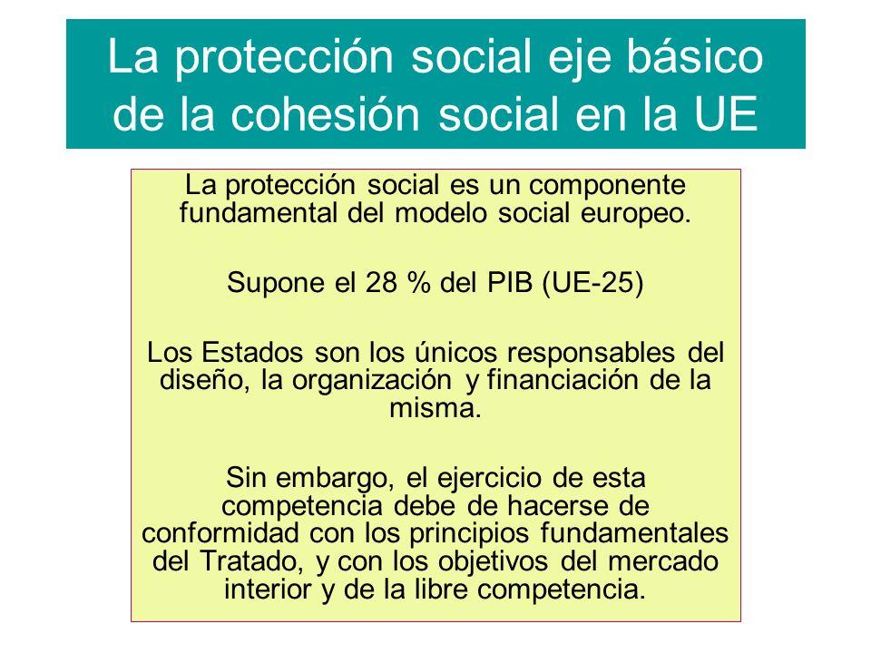 La protección social eje básico de la cohesión social en la UE La protección social es un componente fundamental del modelo social europeo.