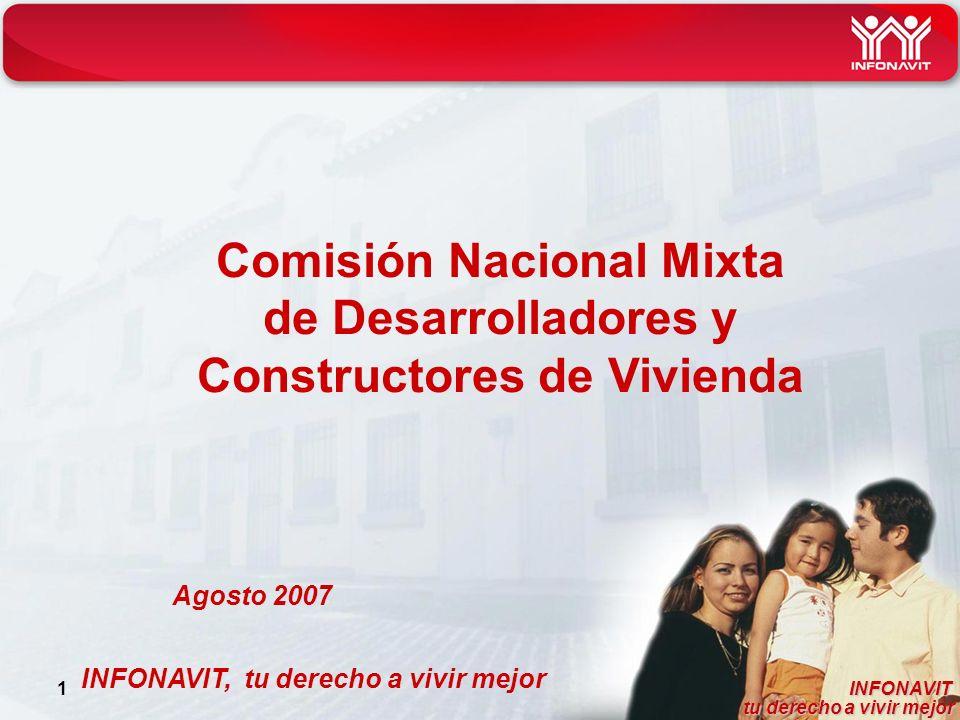 INFONAVIT tu derecho a vivir mejor tu derecho a vivir mejor 1 INFONAVIT, tu derecho a vivir mejor Comisión Nacional Mixta de Desarrolladores y Constructores de Vivienda Agosto 2007