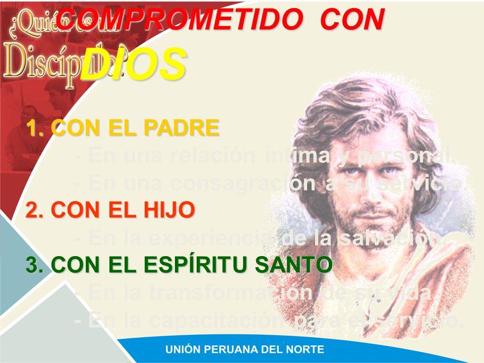 COMPROMETIDO 1. CON DIOS. 2. CON SU FAMILIA. 3. CON LA IGLESIA. 4. CON LA MISIÓN.