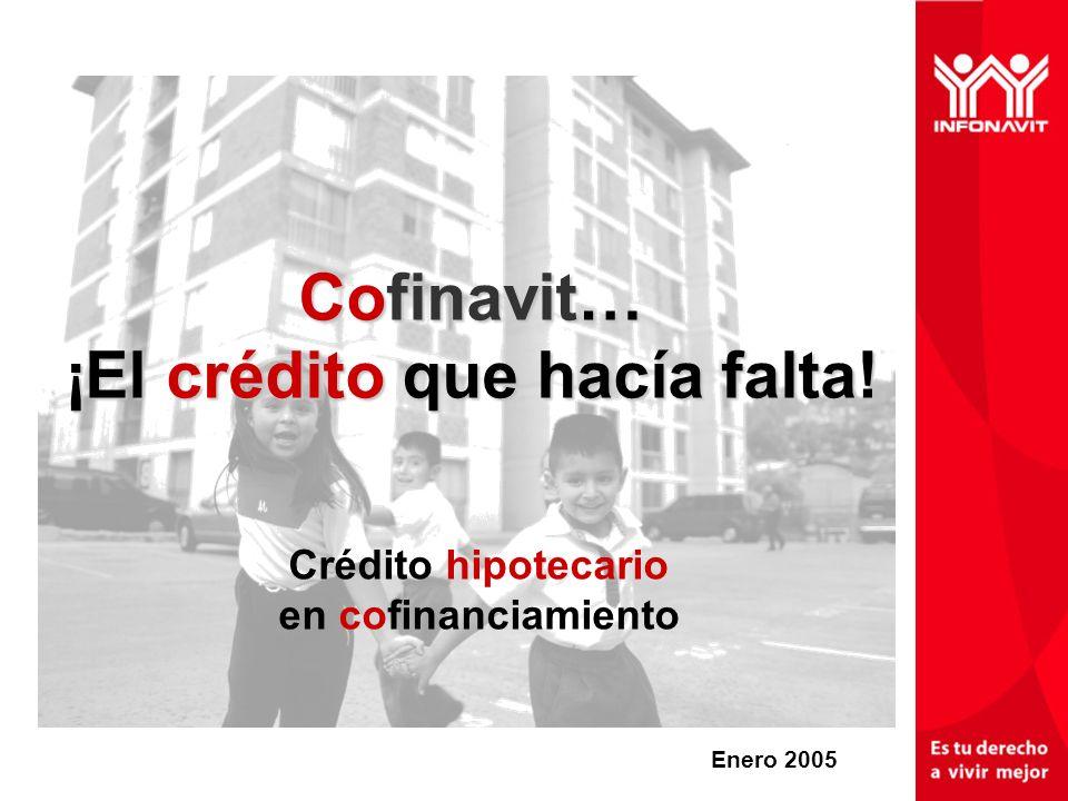 Cofinavit… ¡El crédito que hacía falta! Crédito hipotecario en cofinanciamiento Enero 2005